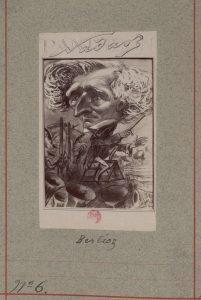 """Berlioz visto por Nadar para su """"Pantheon Nadar"""". Biblioteca Nacional de Francia."""